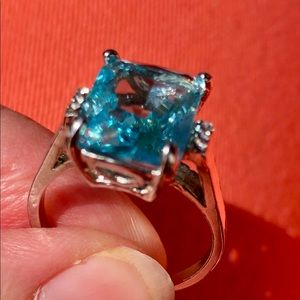 Jewelry - NWOT Aquamarine Set In Sterling Silver Ring Sz 9.